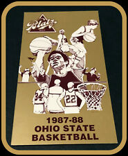 1987-88 OHIO STATE BUCKEYES BLATZ MENS BASKETBALL POCKET SCHEDULE FREE SHIPPING