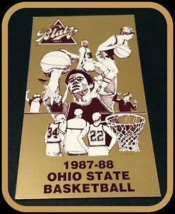 1987-88 OHIO STATE BUCKEYES BLATZ MENS BASKETBALL POCKET SCHEDULE FREE SHIPPING