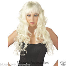 W213 Impulse Long Blonde Layered Loose Curl Supermodel Adult Costume Wig