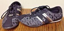 BABY PHAT WOMEN'S LOGO Silver & Black SNEAKERS Fashion Shoes Size 11