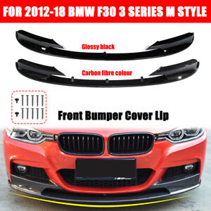 Gloss Black Front Bumper Cover Splitter Lip For BMW F30 F31 3 Series M 2012-2018