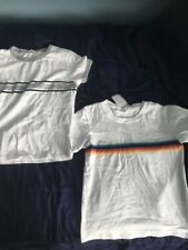 2 Brandy Melville Tees Women's Rainbow Stripe & Nova Top T-Shirt One Size NWT