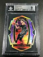 TRAE YOUNG 2018 PANINI SELECT #142 DIE CUT PURPLE REFRACTOR /99 ROOKIE RC BGS 9