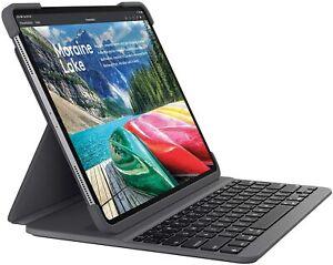 Logitech SLIM FOLIO PRO for 12.9inch iPAD 3rd gen Keyboard backlit keys UK BLACK