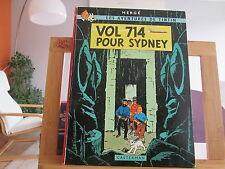 TINTIN VOL 714 POUR SYDNEY B37 eo1968 2EME TIRAGE TBE edition originale
