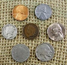 Mercury Silver Dime Starter Collection Mix Lot of 7 Old US Coins + 4 Free WHEAT