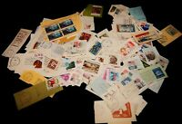 Vintage Stamps, UNITED STATES LOT OF 216 ON PAPER, Cancellation Strips, Blocks