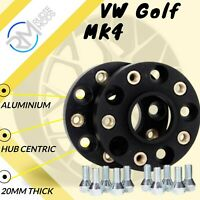BLACK VW Golf MK4 5x100 57.1 20mm ALLOY Hubcentric Wheel Spacers