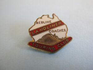 Australia Landliner Redline Coaches Enamel Motor Bus Touring Club Badge