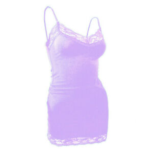 <Bozzolo> Lace Tank Top Adjustable Spaghetti Strap Cami V neck Layering Tank Top