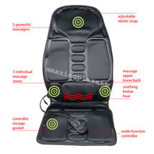 Back Massage Chair Heat Seat Cushion Neck Pain Lumbar Support Pads Car&Home UPS