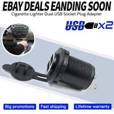 12V/24V Dual USB Port Car Cigarette Lighter Socket Plug LED Voltmeter New US