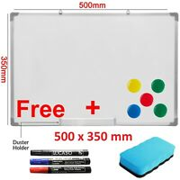 500 x 350mm Dry Wipe Magnetic Whiteboard Office School Home Notice Drawing Board