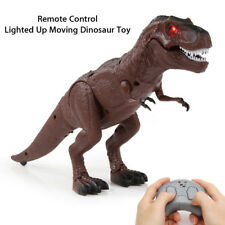Walking Remote Control Dinosaur Toy Light-Up Sound Action Figure Xmas Gift ZP