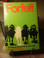 Dick Francis, Forfeit,  Signed, 1st Edition,1st Printing, Like New 1969