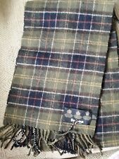 Mens lambswool Barbour tartan scarf