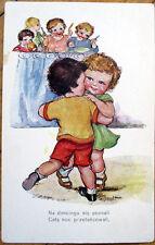 1915 Polish Postcard - Children Dancing - Artist-Signed - Poland