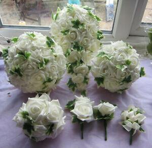 Wedding Flowers Bouquet Buttonholes Brides Shower Bridesmaids Posy Handtied Rose