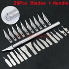 26Pcs Carbon Steel Surgical Scalpel Curved thin Blades PCB Circuit Board +Handle