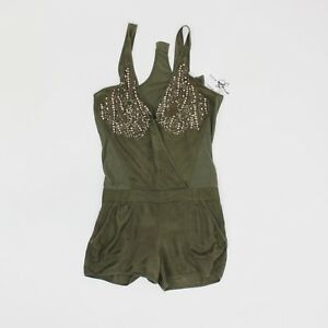 Firetrap Womens Size S Comfort Fit Olive Green Playsuit