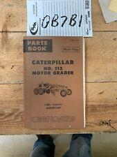 Caterpillar Cat 112 Motor Grader Parts Catalog Manual Book Sn 82f329 Up
