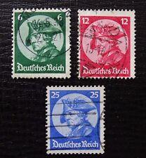 Deutsches Reich 479-481 , Friedrich der Große , Gestempelt