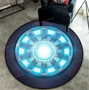 Marvel The Avenger Iron Man Spiderman Rug Carpet Round Floor Mat Bedroom Around