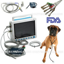 FDA Veterinary Vital Signs Monitor Patient Monitor ECG,NIBP,SPO2,TEMP,RESP,PR,US