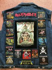 Custom Battle Jacket w/ Your Personal Patch Collection Heavy Metal Doom Death