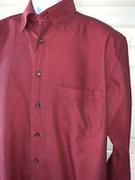 St CROIX  Sz XL Red Casual Dress Shirt 100% Cotton Pocket Made in Italy VGUC