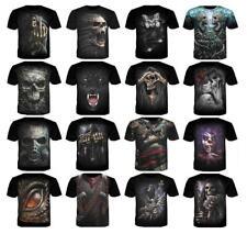 Hot Women's/men's SKULL HEAD 3D print Short Sleeve Casual Tops T-Shirt S-5XL TL8