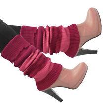 Women Crochet Knit LegWarmers Striped High Calf Winter Boots Warmers