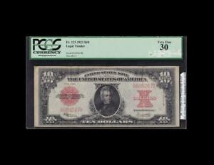 """KEY POKERCHIP"" 1923 $10 LEGAL TENDER PCGS APPARENT VERY FINE 30"