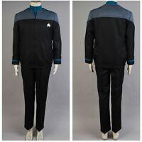 Star Trek NEM Duty Blue Uniform Cosplay Costume Pants Casual Jacket Full set