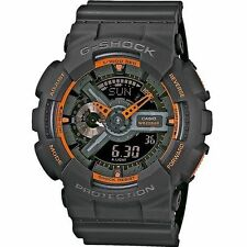 Casio G-shock Mens Watch Matte Grey / Orange Ga110ts 1a4