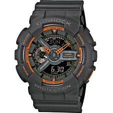 Casio G-shock Mens Watch Matte Grey / Orange Ga110ts 1a4
