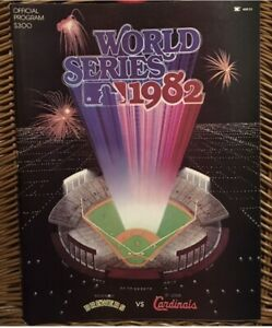 1982 St Louis Cardinals World Series Official PROGRAM Milwaukee Brewers