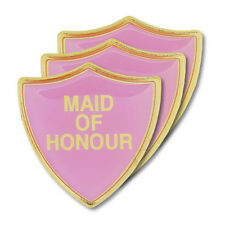 Maid Of Honour Pink Wedding Shield Badge