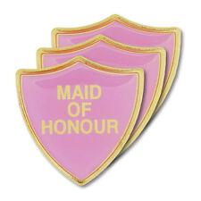 Maid of Honour Pink Wedding Shield Badge