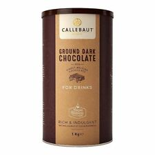 Callebaut Finest Ground Belgian Dark Hot Chocolate Powder For Drinks - 1KG