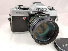 Vintage Minolta XG-A 35mm SLR Camera W/ROKKOR MD  50mm f1.7 Lens