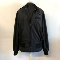 VTG Black Members Only Jacket Tie Neck Zip Front Made in Korea Adult Size 40