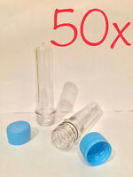 50 x Cache PET Preforms Waterproof Storage Container Baby Soda Clear Bottle Tube