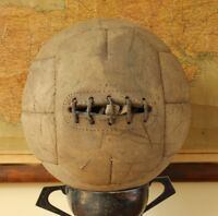 Antique / Vintage Football. Old 11 Panel Laced Leather Soccer Ball. 1930's