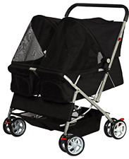 Double Pet Stroller For Cats Dogs & Other Household Animals Foldable Lightweight