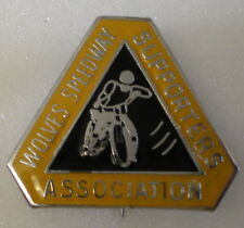 WOLVES SPEEDWAY SUPPORTERS ASSOCIATION Enamel Pin Badge MOTOR BIKE maker REEVES