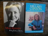 Lot de 2 livres de et sur  Hillary Clinton