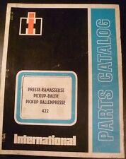 IHC Hochdruck-Ballenpresse 422 Ersatzteilkatalog