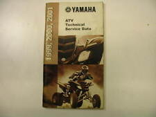 1999-2001 USED YAMAHA ATV TECHNICAL SERVICE DATA BOOK PRINTED IN 2001 01 00 99