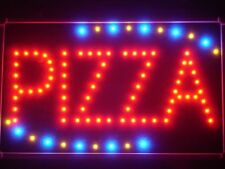 led008-r Pizza Shop OPEN LED Business Neon Light Sign